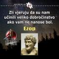 Zlo i dobročinstvo, Ezop