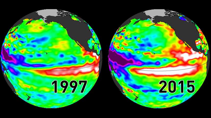 El Nino - alarmantno zatopljavanje Tihog oceana - u stopu prati skupne erupcije podmorskih vulkana u Vatrenom prstenu.