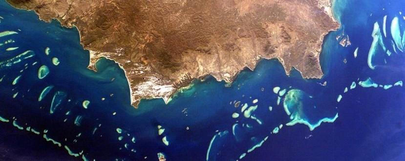 Australijski Veliki koraljni greben se može vidjeti iz satelita.