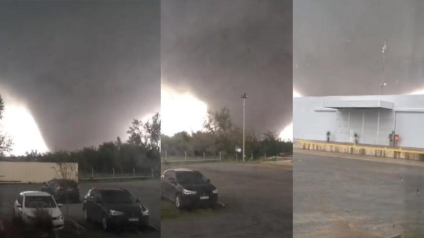 Tornado neposredno prije udara o urugvajski Dolores.