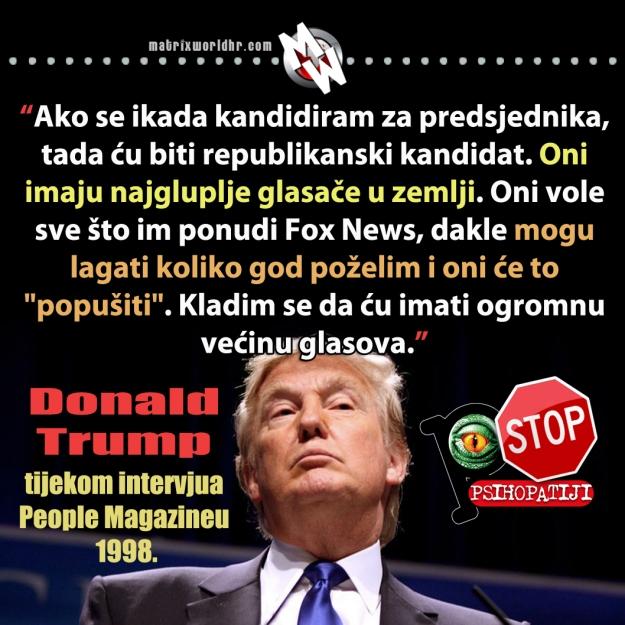 Riječi republikanskog kandidata za predsjednika SAD-a. Je li i on neprijatelj o kojemu priča neimenovani ratni veteran?