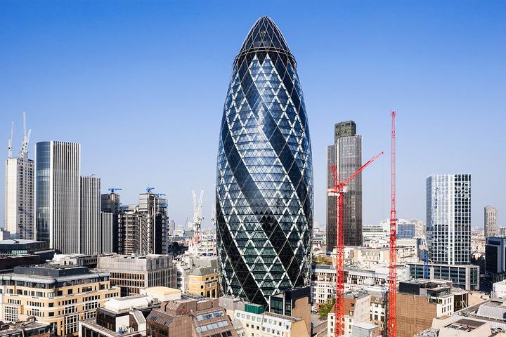Jedan od deset najznamenitijih građevina na svijetu je neboder Gherkin, koji je vlasništvo osumnjičenog bankara.