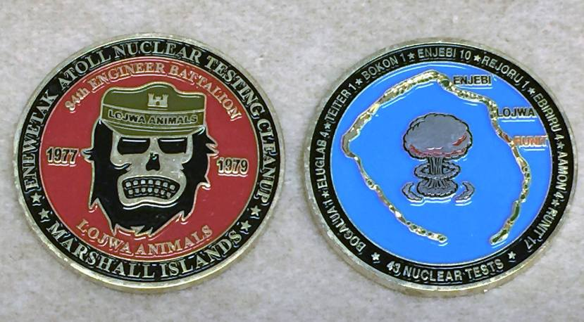 """Oznake američkih brigada, odgovornih za """"čišćenje"""" Marshallovih otoka."""