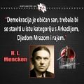 Mencken, demokracija san