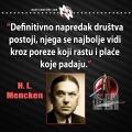 Mencken, napredak društva