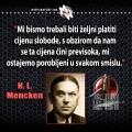 Mencken, cijena slobode