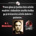Mencken, pravo glasa i kršćanstvo