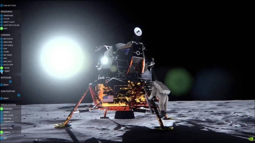 Tijekom rada stručnjaci iz NVIDIA-e su pazili na nvjerojatne detalje, poput nagiba i vrtnje Mjeseca i drugih neobičnih detalja koje teoretičari zavjera nisu imali u vidu.