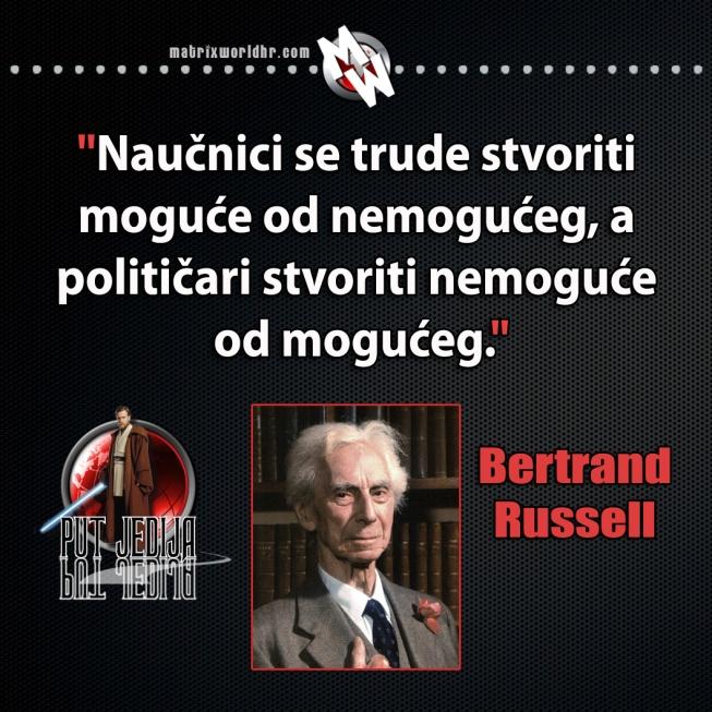 Russell, razlika između naučnika i političara
