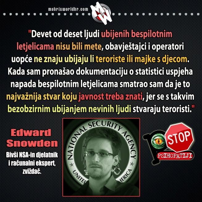 Snowden, ubijanje bespilotnim letjelicama