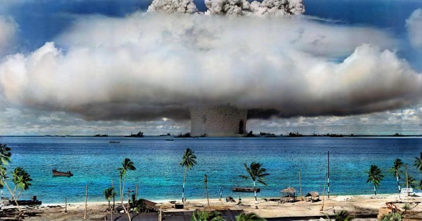 Trenutak prve američke atomske eksplozije na otočju Marshall.