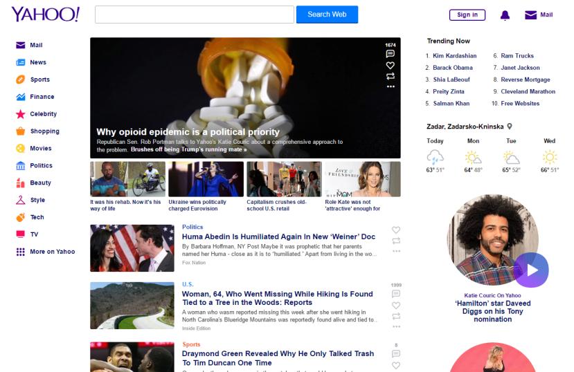 Yaho je trenutačno najpoznatiji web portal na svijetu.