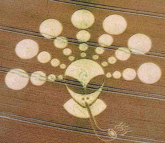 2011. je nastao krug u žitu s izvanzemaljcem koji puši lulu.