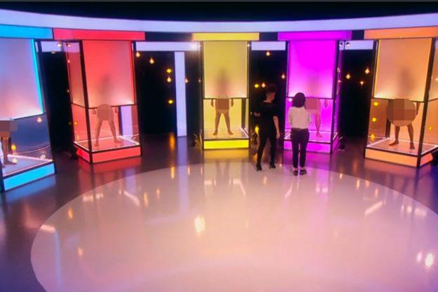 Učesnica showa se nalazi pred teškim zadatkom, kako odabrati najboljeg frajera po dužini i debljini genitalija.
