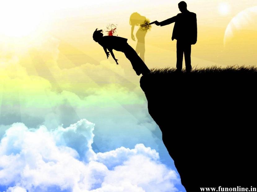 Ali na kraju sve te 'ljubavi' završe u tuzi, boli, patnji i polaganom umiranju u čežnji, sjećanju i neostvarenim snovima. Slika je vlasništvo www.funoline.in