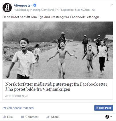 Sporna objava cenzururana zbog nagosti na fotografiji.