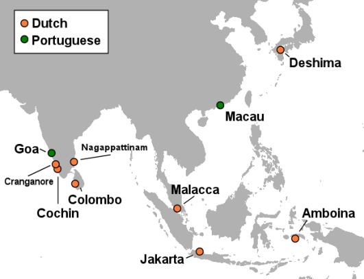 Nizozemske kolonije u Aziji.