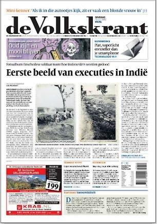 Nizozemski mediji ne vole objavljivati činjenice iz svoje mračne prošlosti. Rijetki su mediji koji se bave takvim stvarima. Na slici vidite jedan takav primjer.