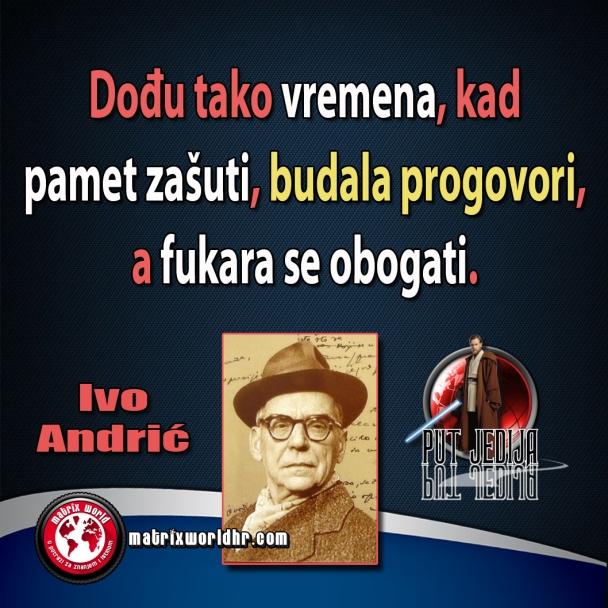 Bezvremenski citat Ive Andrića.