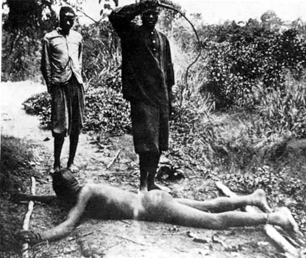 """""""Blago kažnjavanj"""" tečkim bičem roba iz Konga."""