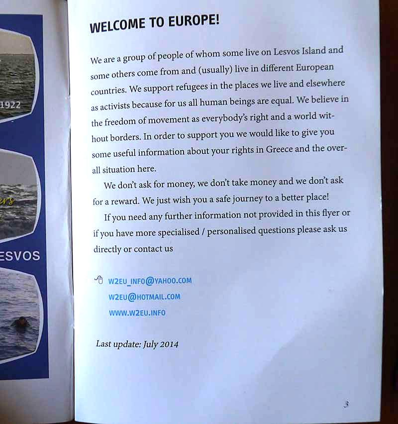 W2E booklet Georga Sorosa za izbjeglice iz Sirije.