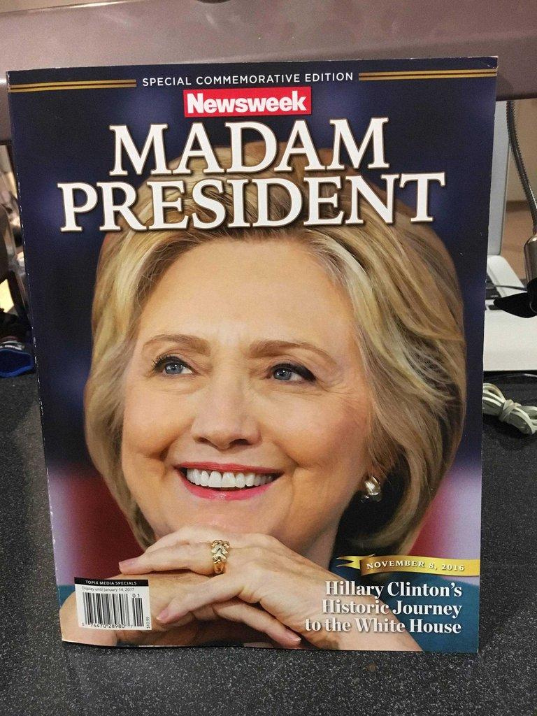 Posebno izdanje Newsweeka je došlo na američke kioske u ranim jutarnjim satima, netom prije objave izbornih rezultata. Mediji su bili spremni na Hillarynu pobjedu.