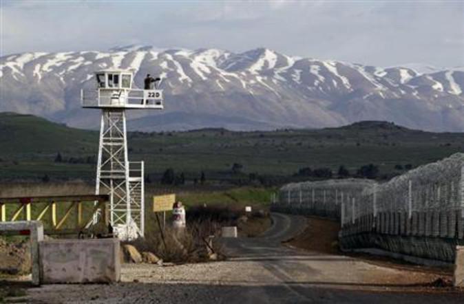 Izraelska granica na Golanskoj visoravni.