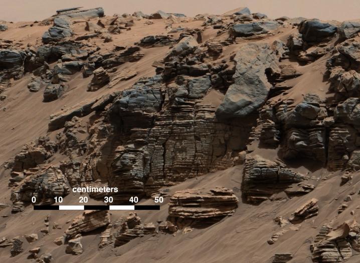 Neobični sedimenti s mogućim fosilima.