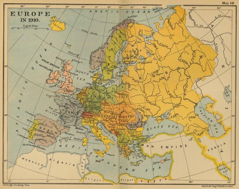 Europske sile Prvog svjetskog rata.