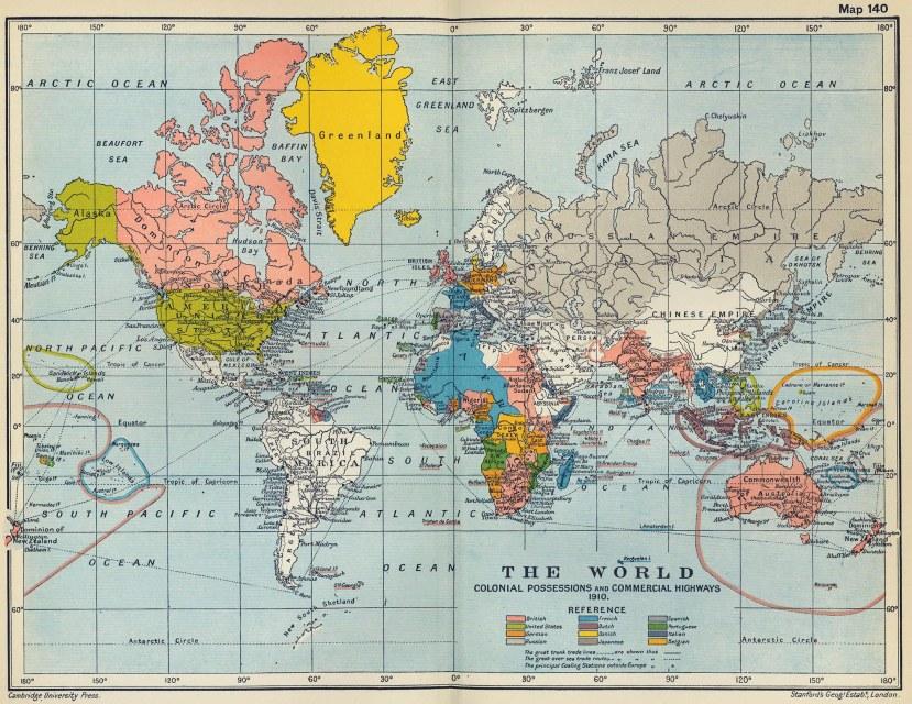 Kolonijalna podijela svijeta do Prvog svjetskog rata.