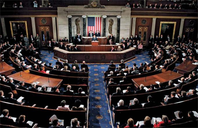 """Obratite pažnju na """"glavosjeke"""" po uzoru na fašističke sjekire, koje vise na zidu centralnog podija američkog senata. Zašto bi se demokratske institucije krasile takvim obličjima? Možda je odgovor u tome kako uopće nije riječ o demokratskoj instituciji."""
