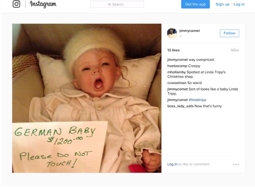 Natpis: Njemačko dijete 1.200 dolara. Ne diraj ovo!