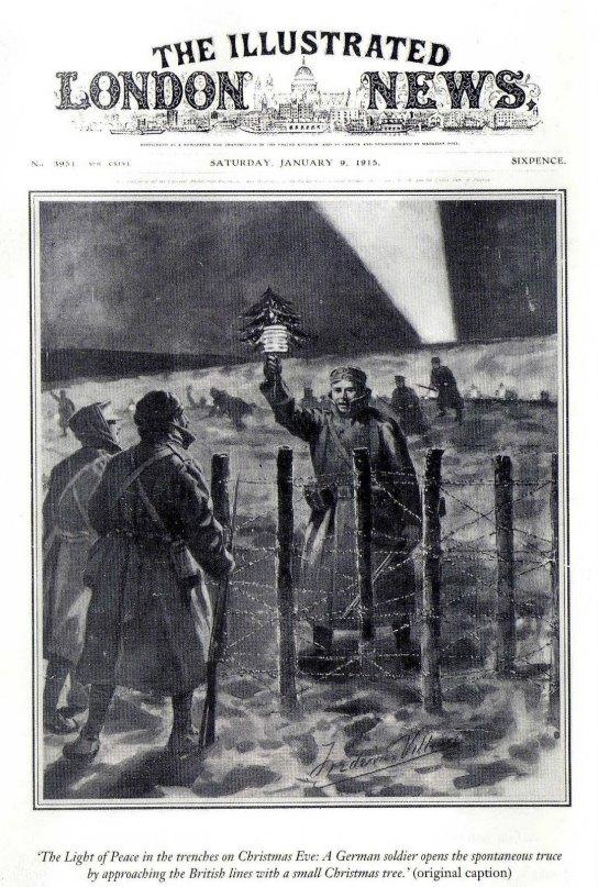 Naslovnica The Illustrated London Newsa posvećena božićnom primirju.