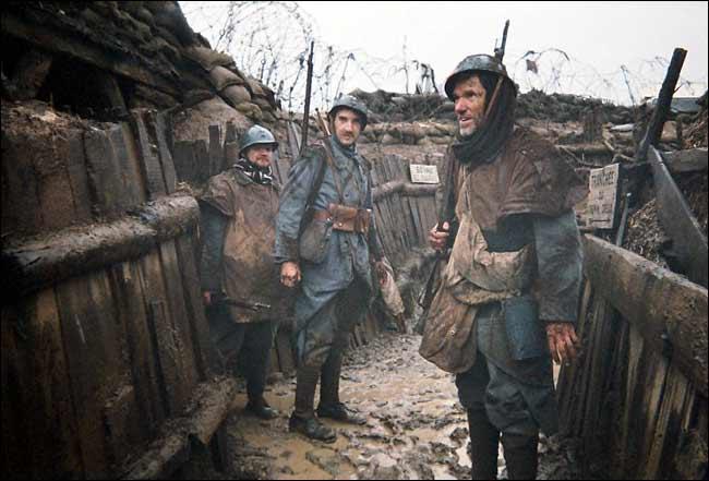 Francuski rov na zapadnoj fronti tijekom božića 1914.