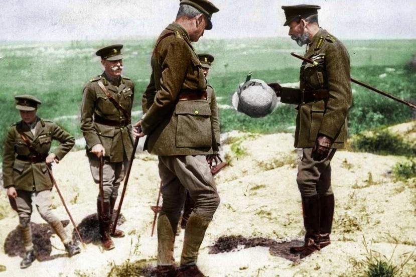 Kralj George V. je jedanput godišnje posjećivao zapadni front od 1915.