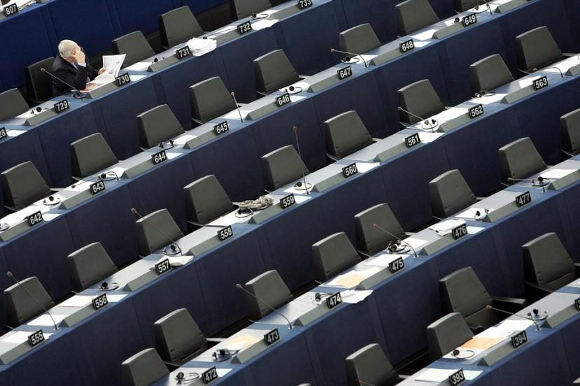 Fotografoja snimljena u EU parlamentu tijekom veljače 2012. godine kada se raspravljalo o progresu koji je napravila Hrvatska za ulazak u EU.