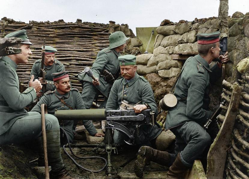 Njemeački rov početkom rata na zapadnom frontu.