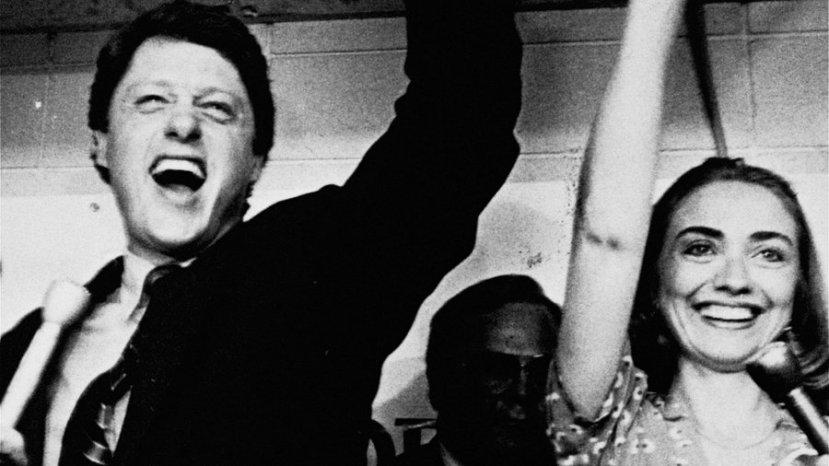 Bill i Hillary Clinton u trenutku izborne pobjede za mjesto guvernera savezne države Arkanzas.