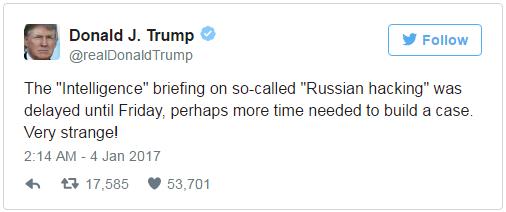 Nedavni Tweet Donalda Trumpa.