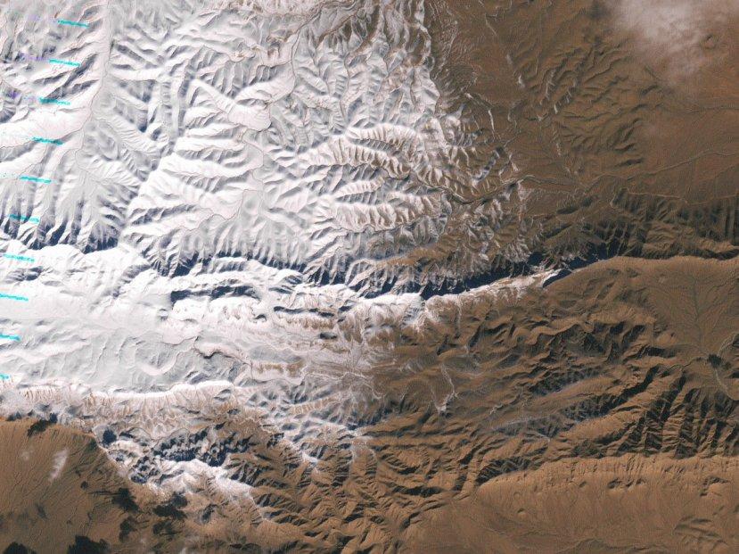 Sahara prekrivena snijegom 23.12.2016. godine.