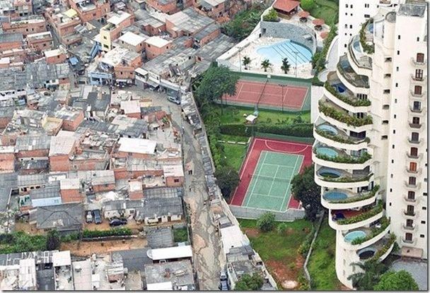 Ograđene brazilske bogataške četvrti i načičkane favele. Jaz između bogatih i siromašnih je sve veći.