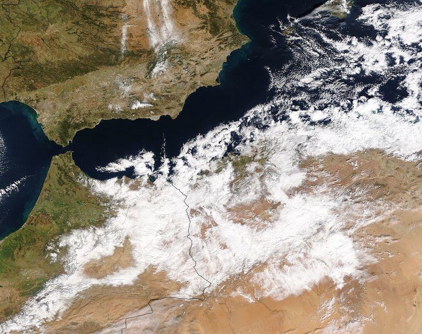 Sniježni opblaci nad Saharom 2017.
