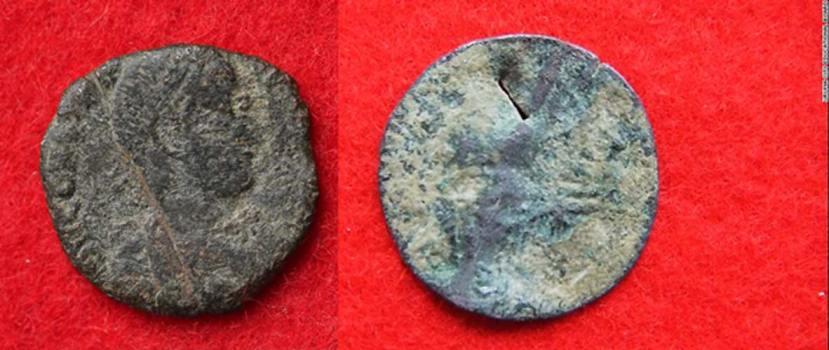 Staro-rimski novčić iz IV. vijeka nove ere pronađen na Okinawi.