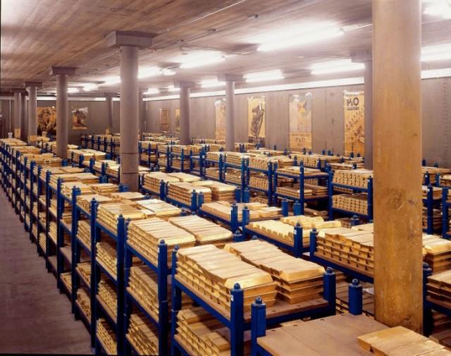 Trezori za zlato u New Yorku.