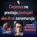aldous Huxley zanemarivanje činjenica