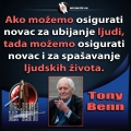 Tony Benn Ubijanje i spašavanje ljudi
