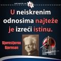 Bjørnstjerne Bjørnson istina u neiskrenim odnosima