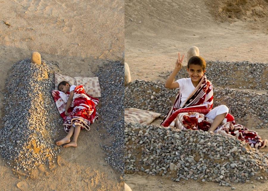 Fotografija sirijskog dječaka usnulog među grobovima je LAŽNA!