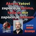 Julian Assange rat i mir laž i istina