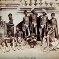 obitelj u madrasu tijekom gladi koju su izazvali britanci 1876